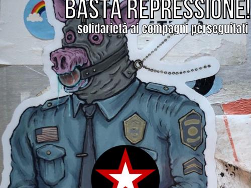 Continua la repressione statale: solidarietà ai compagni del P.Carc
